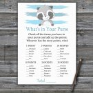 Raccoon What's In Your Purse Game,Raccoon Baby shower games,INSTANT DOWNLOAD--320