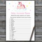 Unicorn Baby Animals Name Game,Unicorn Baby shower games,INSTANT DOWNLOAD--319
