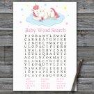 Unicorn Baby Shower Word Search Game,Sleeping Unicorn Baby shower games,INSTANT DOWNLOAD--318