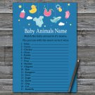 Baby toys Baby Animals Name Game,Baby toys Baby shower games,INSTANT DOWNLOAD--317