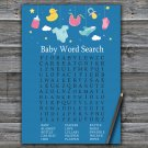Baby toys Baby Shower Word Search Game,Baby toys Baby shower games,INSTANT DOWNLOAD--317