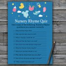 Baby toys Nursery Rhyme Quiz Game,Baby toys Baby shower games,INSTANT DOWNLOAD--317