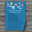 Baby toys How Well Do You Know Game,Baby toys Baby shower games,INSTANT DOWNLOAD--317
