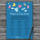Baby toys What's In Your Purse Game,Baby toys Baby shower games,INSTANT DOWNLOAD--317