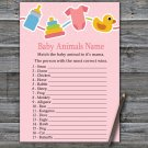 Baby toys Baby Animals Name Game,Baby toys Baby shower games,INSTANT DOWNLOAD--316