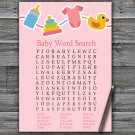 Baby toys Baby Shower Word Search Game,Baby toys Baby shower games,INSTANT DOWNLOAD--316