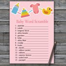 Baby toys Baby Word Scramble Game,Baby toys Baby shower games,INSTANT DOWNLOAD--316