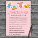 Baby toys Nursery Rhyme Quiz Game,Baby toys Baby shower games,INSTANT DOWNLOAD--316