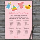 Baby toys What's In Your Purse Game,Baby toys Baby shower games,INSTANT DOWNLOAD--316