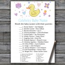 Rubber duck Celebrity Baby Name Game,Rubber duck Baby shower games,INSTANT DOWNLOAD--315