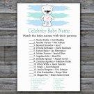 Polar bear Celebrity Baby Name Game,Polar bear Baby shower games,INSTANT DOWNLOAD--312