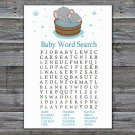 Cute elephant Baby Shower Word Search Game,Cute elephant Baby shower games,INSTANT DOWNLOAD--303