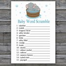 Cute elephant Baby Word Scramble Game,Cute elephant Baby shower games,INSTANT DOWNLOAD--303