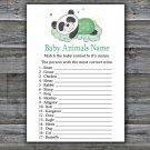 Sleeping panda Baby Animals Name Game,Sleeping panda Baby shower games,INSTANT DOWNLOAD--302