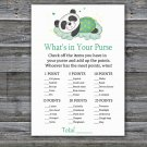 Sleeping panda What's In Your Purse Game,Sleeping panda Baby shower games,INSTANT DOWNLOAD--302