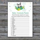 Cute panda Baby Animals Name Game,Cute panda Baby shower games,INSTANT DOWNLOAD--301