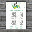 Cute panda Baby Shower Word Search Game,Cute panda Baby shower games,INSTANT DOWNLOAD--301