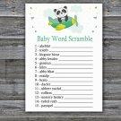 Cute panda Baby Word Scramble Game,Cute panda Baby shower games,INSTANT DOWNLOAD--301