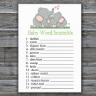 Elephant family Baby Word Scramble Game,Elephant Baby shower games,INSTANT DOWNLOAD--299
