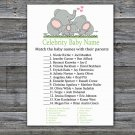 Elephant family Celebrity Baby Name Game,Elephant Baby shower games,INSTANT DOWNLOAD--299