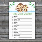 Baby Monkey Baby Word Scramble Game,Monkey Baby shower games,INSTANT DOWNLOAD--298