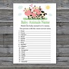 Cow Baby Animals Name Game,Cow Baby shower games,INSTANT DOWNLOAD--296