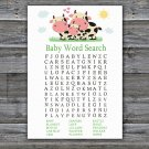 Cow Baby Shower Word Search Game,Cow Baby shower games,INSTANT DOWNLOAD--296