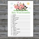 Cow Baby Word Scramble Game,Cow Baby shower games,INSTANT DOWNLOAD--296
