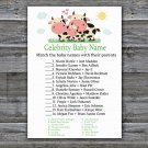Cow Celebrity Baby Name Game,Cow Baby shower games,INSTANT DOWNLOAD--296