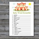 Fox Baby Word Scramble Game,Fox Baby shower games,INSTANT DOWNLOAD--295