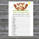 Squirrel Baby Animals Name Game,Squirrel Baby shower games,INSTANT DOWNLOAD--293