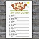 Squirrel Baby Word Scramble Game,Squirrel Baby shower games,INSTANT DOWNLOAD--293