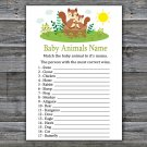 Cute Squirrel Baby Animals Name Game,Squirrel Baby shower games,INSTANT DOWNLOAD--292