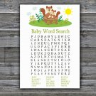 Cute Squirrel Baby Shower Word Search Game,Squirrel Baby shower games,INSTANT DOWNLOAD--292