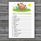 Cute Squirrel Baby Word Scramble Game,Squirrel Baby shower games,INSTANT DOWNLOAD--292