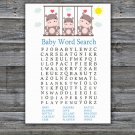 Hippo Baby Shower Word Search Game,Hippo Baby shower games,INSTANT DOWNLOAD--291