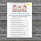 Hippo Nursery Rhyme Quiz Game,Hippo Baby shower games,INSTANT DOWNLOAD--291