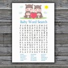 Family Hippo Baby Shower Word Search Game,Family Hippo Baby shower games,INSTANT DOWNLOAD--290