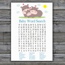 Funny Hippo Baby Shower Word Search Game,Funny Hippo Baby shower games,INSTANT DOWNLOAD--289