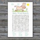 Giraffe Baby Shower Word Search Game,Giraffe Baby shower games,INSTANT DOWNLOAD--288