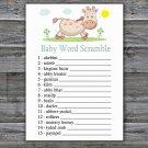 Giraffe Baby Word Scramble Game,Giraffe Baby shower games,INSTANT DOWNLOAD--288