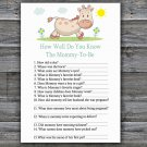 Giraffe How Well Do You Know Game,Giraffe Baby shower games,INSTANT DOWNLOAD--288