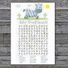 Zebra Baby Shower Word Search Game,Zebra Baby shower games,INSTANT DOWNLOAD--287