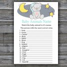 Teddy bear Baby Animals Name Game,Teddy bear Baby shower games,INSTANT DOWNLOAD--286