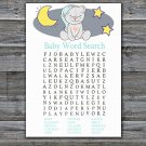 Teddy bear Baby Shower Word Search Game,Teddy bear Baby shower games,INSTANT DOWNLOAD--286