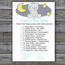Teddy bear Celebrity Baby Name Game,Teddy bear Baby shower games,INSTANT DOWNLOAD--286