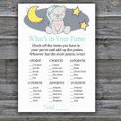 Teddy bear What's In Your Purse Game,Teddy bear Baby shower games,INSTANT DOWNLOAD--286