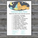 Teddy bear Celebrity Baby Name Game,Sleepy Teddy bear Baby shower games,INSTANT DOWNLOAD--285