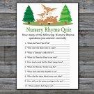 Cute Deer Nursery Rhyme Quiz Game,Deer Baby shower games,INSTANT DOWNLOAD--277