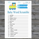 Toy Train Baby Word Scramble Game,Toy Train Baby shower games,INSTANT DOWNLOAD--224